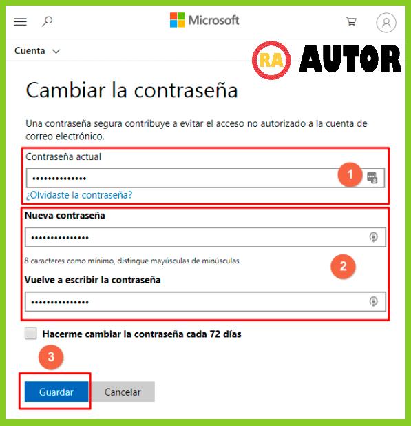 COMO CAMBIAR CONTRASEÑA OUTLOOK O HOTMAIL