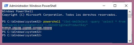 activar Windows 10 gratis a través de PowerShell,
