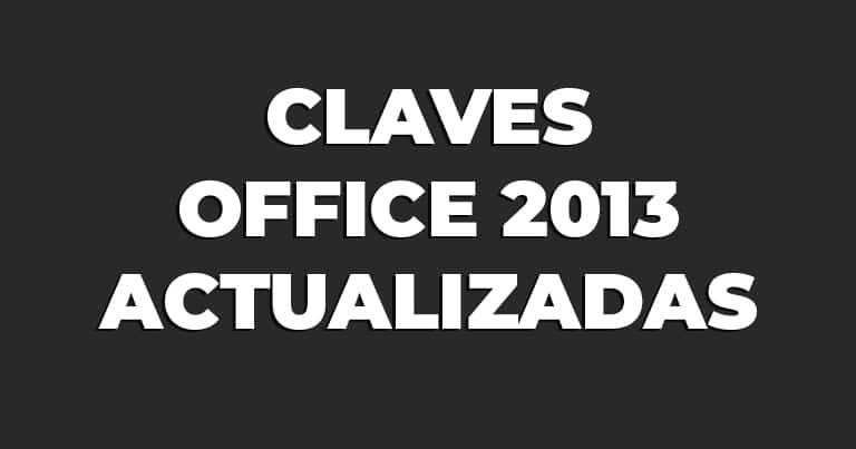 Claves Office 2013 actualizadas